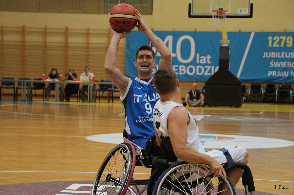 Europei Basket in carrozzina, Italia ko con la Germania