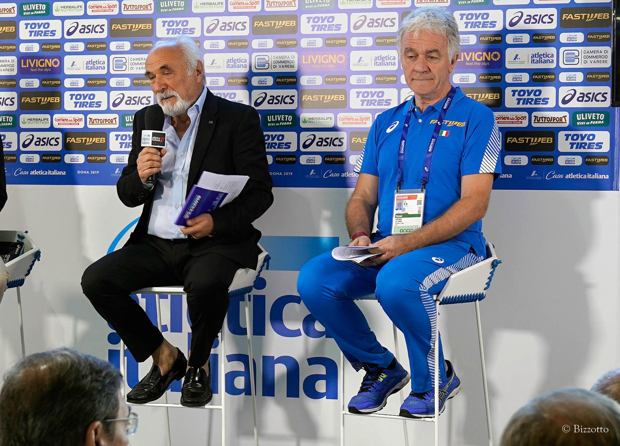 Atletica - Il bilancio mondiale del Presidente Giomi e del DT Latorre