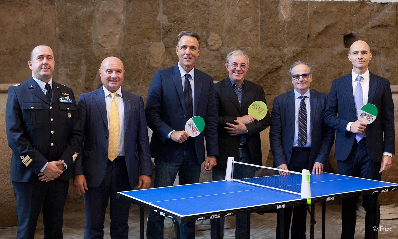 Roma Ping Pong Fest, presentato in Campidoglio l'evento dei Fori Imperiali