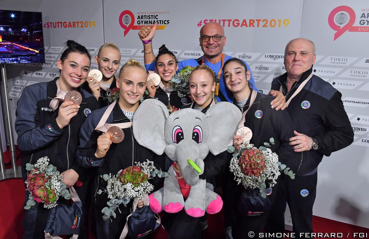 Ginnastica - Storico bronzo mondiale per l'Italdonne dell'Artistica