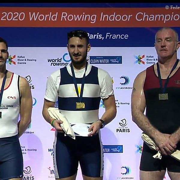 Sei medaglie per l'Italia ai Mondiali indoor di Parigi di rowing